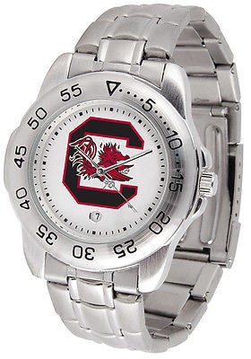 South Carolina Gamecocks Men's Sports Stainless Steel Watch