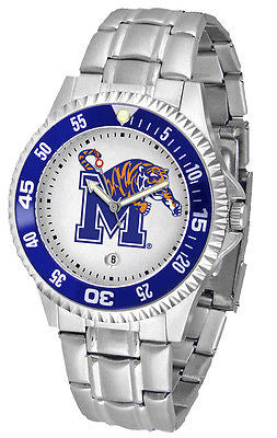 Memphis Tigers Men's Competitor Stainless Steel AnoChrome with Color Bezel Watch
