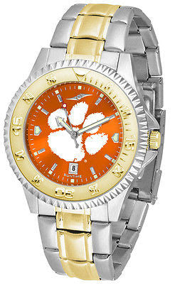 Clemson Tigers Men's Competitor Stainless Steel AnoChrome Two Tone Watch