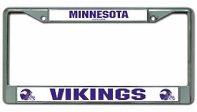 Minnesota Vikings Chrome Auto Tag Frame