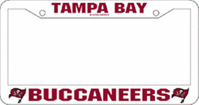 Tampa Bay Buccaneers Plastic Auto Tag Frame