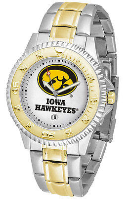 Iowa Hawkeyes Competitor Two Tone Stainless Steel Men's Watch