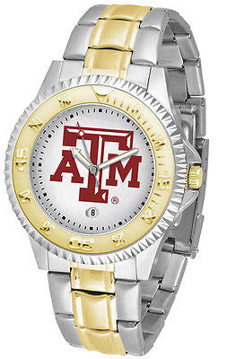 Texas A&M Aggies Competitor Two Tone Stainless Steel Men's Watch