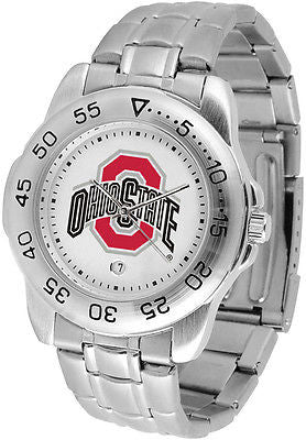 Ohio State Buckeyes Men's Sports Stainless Steel Watch