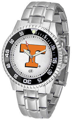 Tennessee Vols Men's Competitor Stainless Steel AnoChrome with Color Bezel