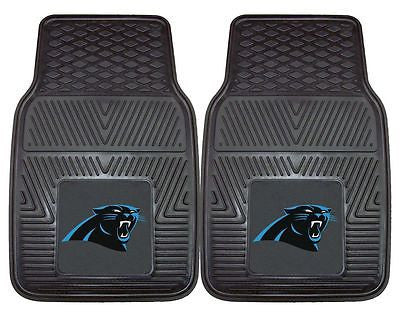 Carolina Panthers Black Vinyl Auto Front Floor Mats Set of 2  OUT OF STOCK