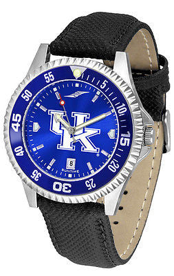 Kentucky Wildcats Men's Competitor AnoChrome Color Bezel Leather Band Watch