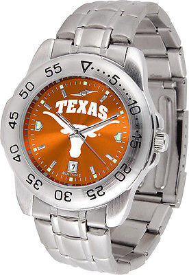 Texas Longhorns Men's Stainless Steel Sports AnoChrome Watch
