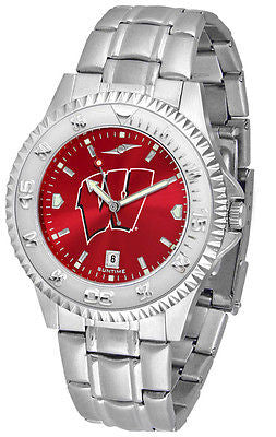 Wisconsin Badgers Men's Competitor Stainless Steel AnoChrome Watch