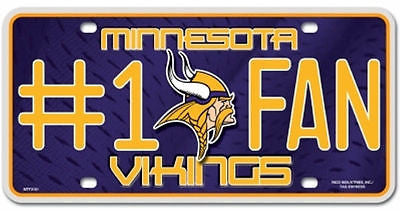 Minnesota Vikings Metal Car Tag
