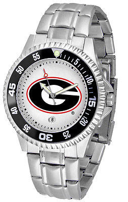 Georgia Bulldogs Men's Competitor Stainless AnoChrome with Color Bezel Watch