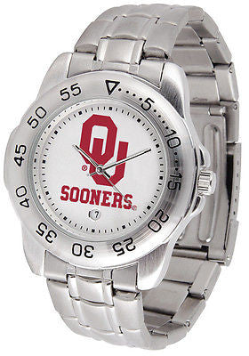 Oklahoma Sooners Men's Sports Stainless Steel Watch
