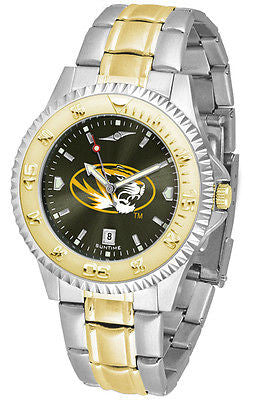 Missouri Tigers Men's Competitor Stainless Steel AnoChrome Two Tone Watch