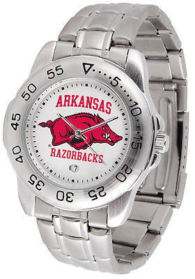 Arkansas Razorbacks Men's Sports Stainless Steel Watch