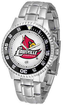 Louisville Cardinals Men's Competitor Stainless AnoChrome with Color Bezel Watch
