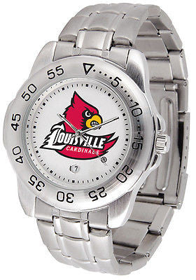 Louisville Cardinals Men's Sports Stainless Steel Watch