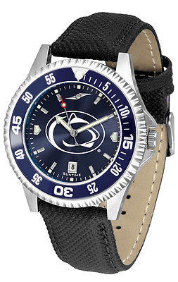 Penn State Men's Competitor AnoChrome Color Bezel Leather Band Watch