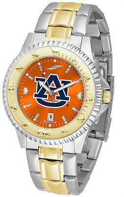 Auburn Tigers Men's Competitor Stainless Steel AnoChrome Two Tone Watch