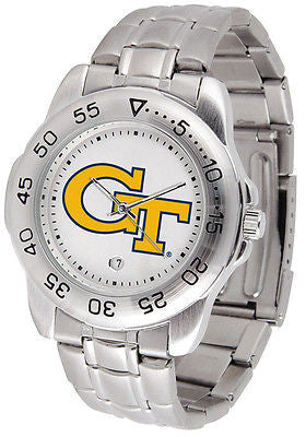 Georgia Tech Men's Sports Stainless Steel Watch