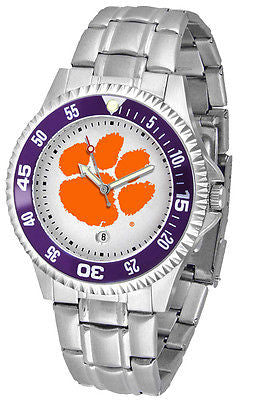 Clemson Tigers Men's Competitor Stainless Steel AnoChrome with Color Bezel Watch