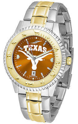 Texas Longhorns Men's Competitor Stainless Steel AnoChrome Two Tone Watch