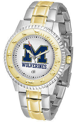 Michigan Wolverines Competitor Two Tone Stainless Steel Men's Watch