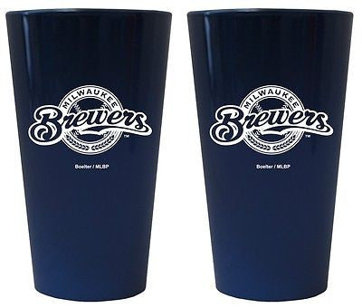 Milwaukee Brewers Lusterware Glass Set