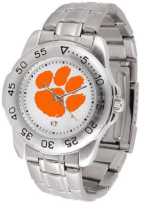 Clemson Tigers Men's Sports Stainless Steel Watch