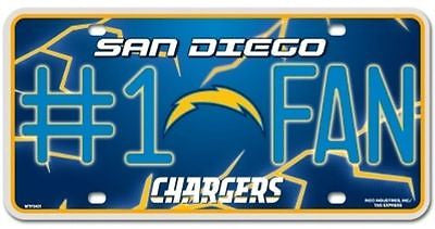 San Diego Chargers Metal Car Tag