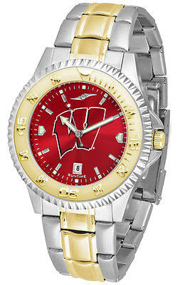 Wisconsin Badgers Men's Competitor Stainless Steel AnoChrome Two Tone Watch
