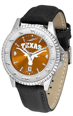 Texas Longhorns Men's Competitor AnoChrome Leather Band Watch