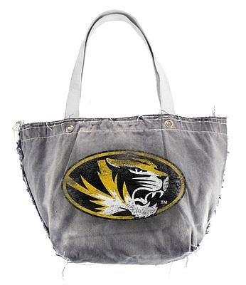 Missouri Tigers Light Gray Distressed Vintage Tote