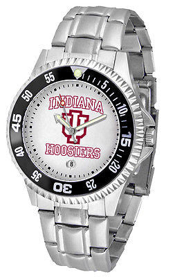 Indiana Hoosiers Men's Competitor Stainless AnoChrome with Color Bezel Watch