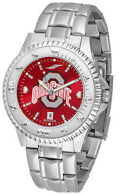 Ohio State Buckeyes Men's Competitor Stainless Steel AnoChrome Watch