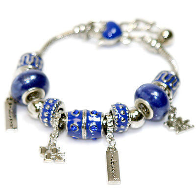 Kentucky Wildcats Beaded Charm Bracelet
