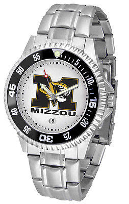 Missouri Tigers Men's Competitor Stainless Steel AnoChrome with Color Bezel