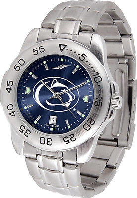 Penn State Men's Stainless Steel Sports AnoChrome Watch