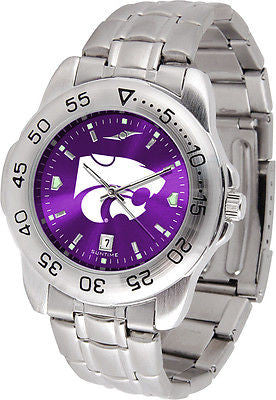 Kansas State Wildcats Men's Stainless Steel Sports AnoChrome Watch