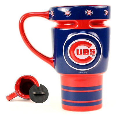 Chicago Cubs Ceramic Travel Mug with Lid