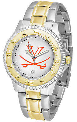 Virginia Cavaliers Competitor Two Tone Stainless Steel Men's Watch