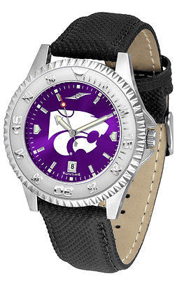 Kansas State Men's Competitor AnoChrome Leather Band Watch