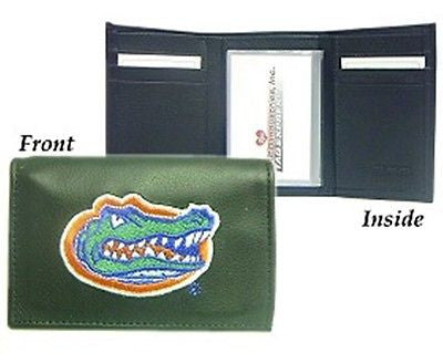 Florida Gators Embroidered Men's Tri Fold Wallet