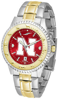 Nebraska Cornhuskers Men's Competitor Stainless Steel AnoChrome Two Tone Watch