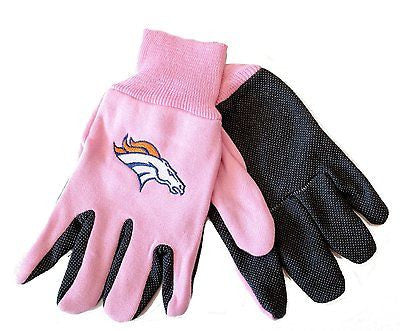 Denver Broncos Pink Team Gloves
