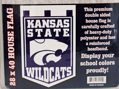Kansas State Double Sided House Flag