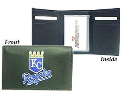 Kansas City Royals Embroidered Men's Tri Fold Wallet