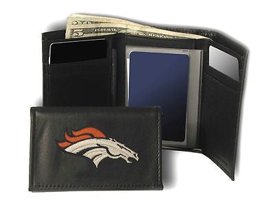 Denver Broncos Embroidered Men's Tri Fold Wallet