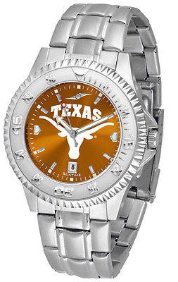 Texas Longhorns Men's Competitor Stainless Steel AnoChrome Watch