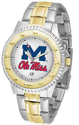 Mississippi Ole Rebels Competitor Two Tone Stainless Steel Men's Watch