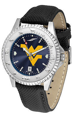 West Virginia Mountaineers Men's Competitor AnoChrome Leather Band Watch